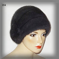 Меховая женскаая норковая шапка (три яруса)