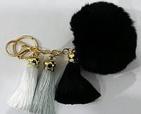 Популярные брелки помпоны с кистями для сумок и ключей- меховые брелоки оптом (13 см) 264