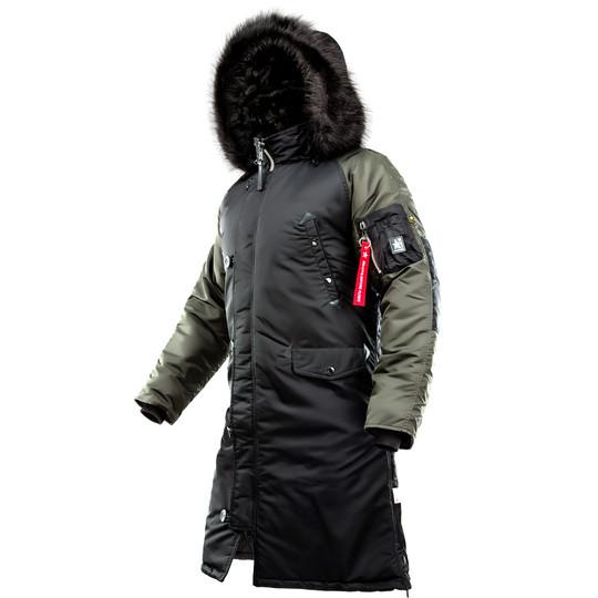 Зимняя мужская куртка N-7B Shuttle Challenger Black/Beluga Parka (Thinsulate) AIRBOSS