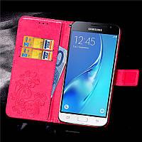 Чехол Clover для Samsung Galaxy J3 2016 J320 J320H J300 книжка кожа PU Pink