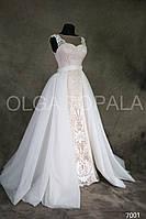 """Свадебное платье """"русалка""""  со съемной юбкой,"""
