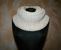 Вязаный шарф-снуд ручной работы. Зимний шарф.