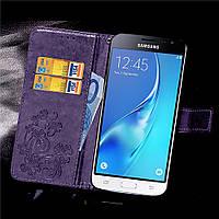 Чехол Clover для Samsung Galaxy J3 2016 J320 J320H J300 книжка кожа PU Purple