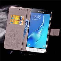 Чехол Clover для Samsung Galaxy J3 2016 J320 J320H J300 книжка кожа PU Gray