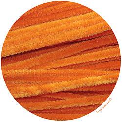 Синельная пушистая проволока, цвет оранжевый 30 см