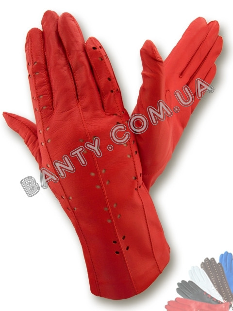 Женские перчатки без подкладки модель 011