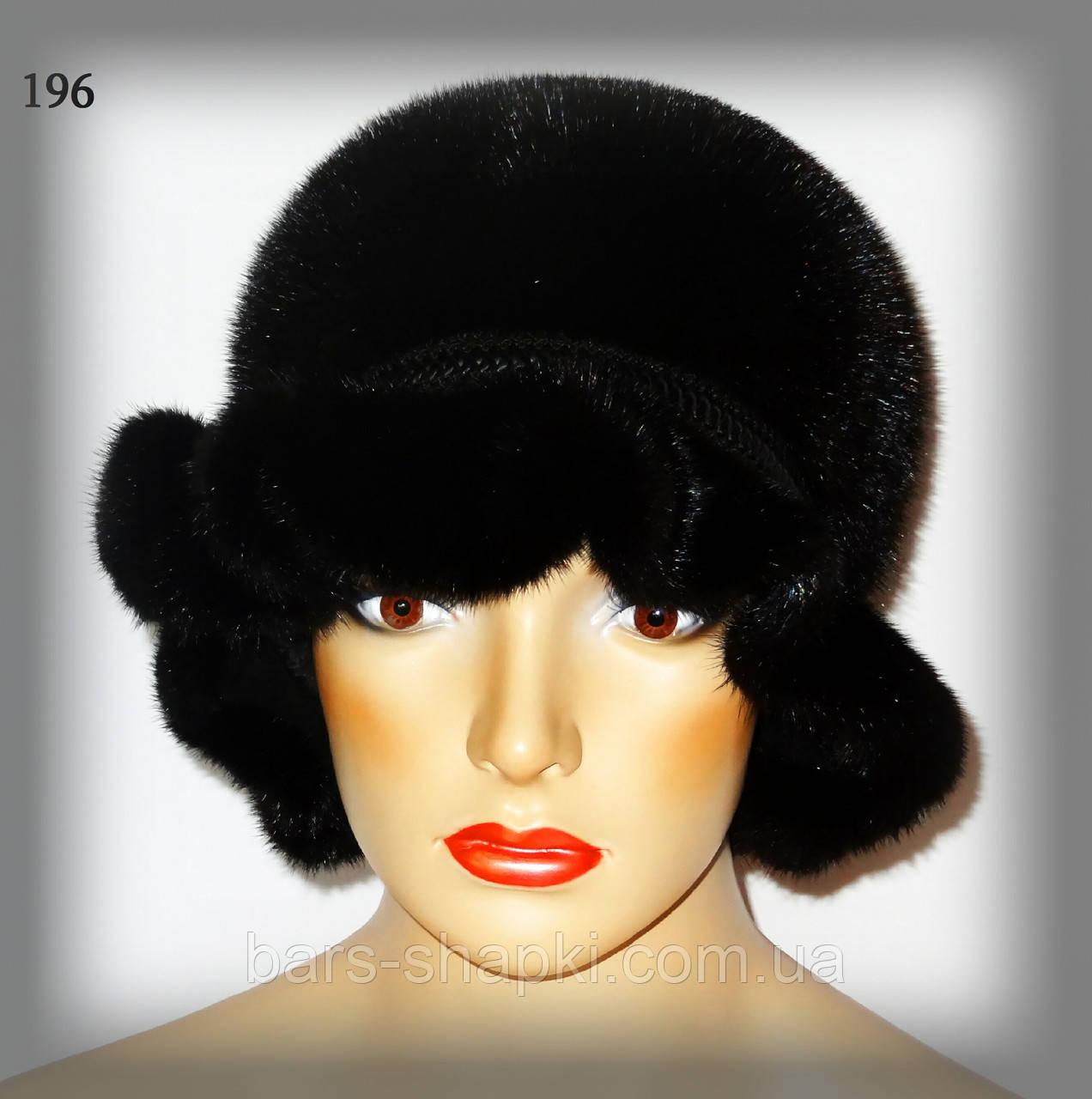 Меховая шляпа из норки (черная)