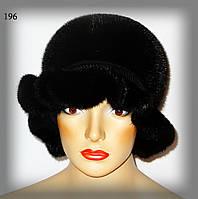 Меховая шляпа из норки (черная), фото 1