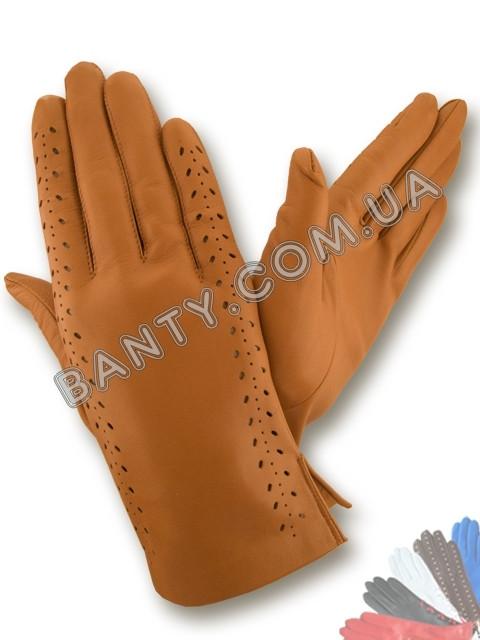 Женские перчатки без подкладки модель 019
