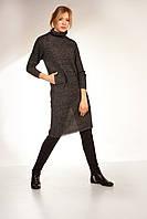 Мохеровое платье-свитер удлинённое