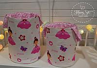 Набір з двох корзинок в рожевих тонах 1367
