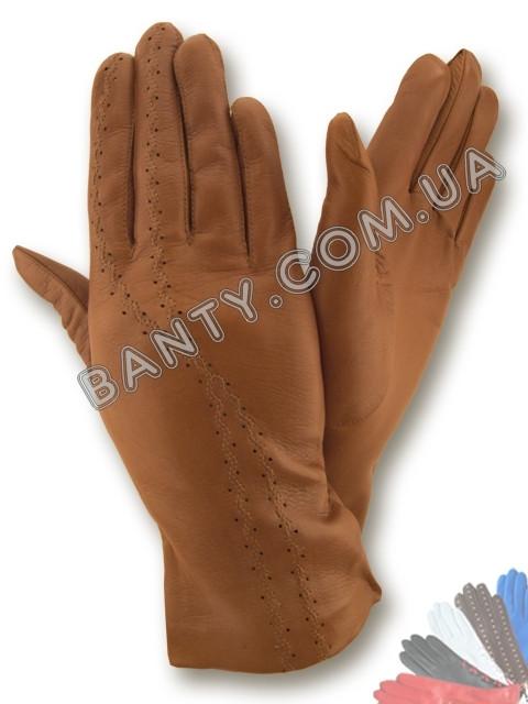 Женские перчатки без подкладки модель 065