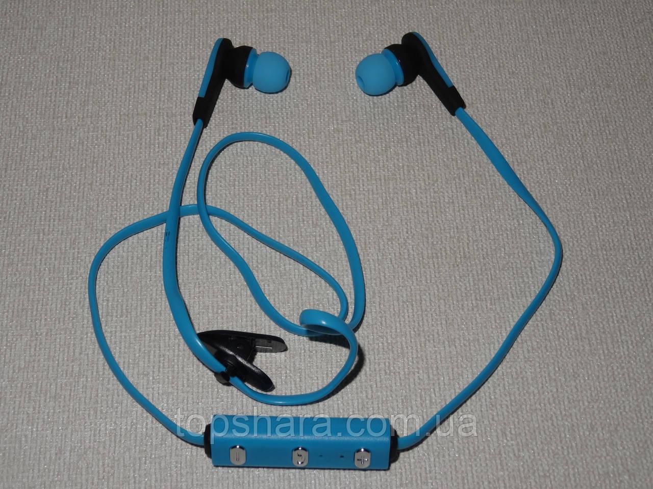 Наушники гарнитура Bluetooth sport Nike MS-B4 синие