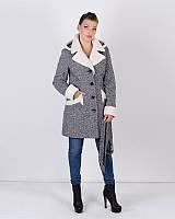 Пальто зимнее твид, фото 1