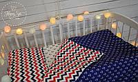 Постільна білизна в ліжечко в морських тонах 1501
