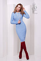 Женское облегающее платье приталенное вязаное Крис-3