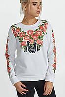 Женский свитшот с розами Nenka. 2 цвета.