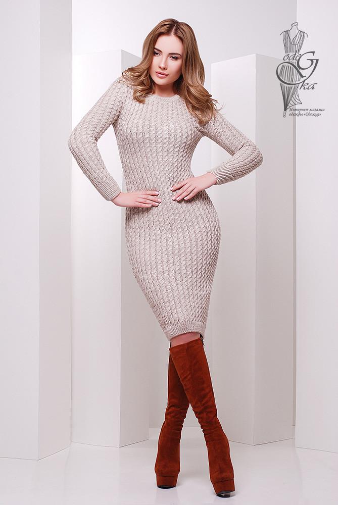 9e9a34ef22d Женское облегающее платье приталенное вязаное Крис-4  продажа