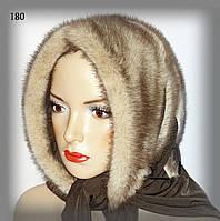 Меховой норковый платок (колотый лёд), фото 1
