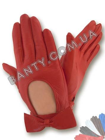 Женские кожаные перчатки без подкладки Модель 253, фото 2