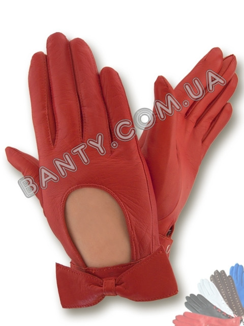 Женские кожаные перчатки без подкладки Модель 253