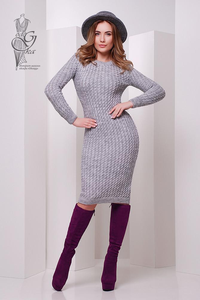 Женское облегающее платье приталенное вязаное Крис-8