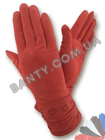 Женские кожаные перчатки без подкладки Модель 285, фото 2