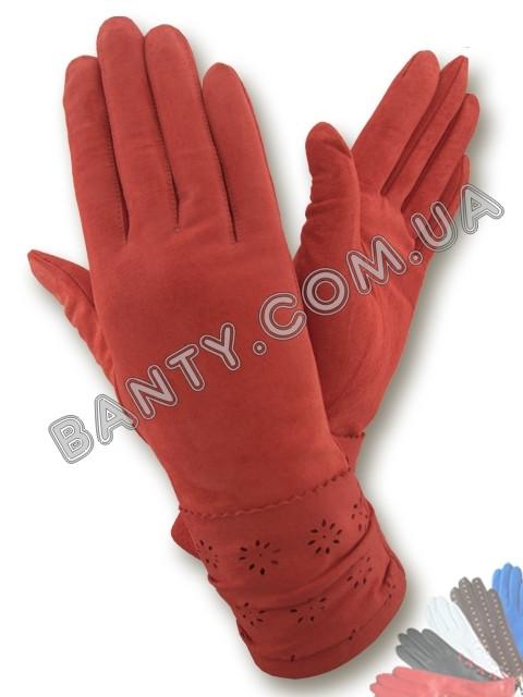 Женские кожаные перчатки без подкладки Модель 285