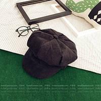 Модный женский картуз кепка черного цвета