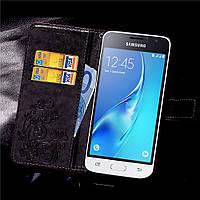 Чехол Clover для Samsung Galaxy J1 2016 J120 J120H книжка кожа PU черный