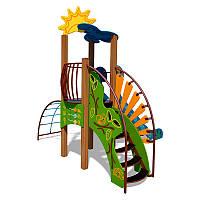 """Игровой комплекс """"Ручеек"""" (канатная лестница и ограждение с пазлом) InterAtletika TЕ701.2"""