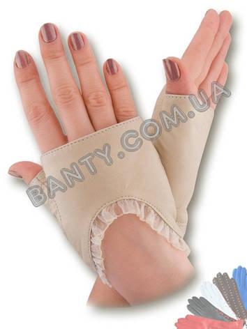 Женские кожаные перчатки без подкладки Модель 342, фото 2
