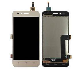 Дисплей (экран) для Huawei Y3 II 2016 LUA-L21 версия 4G з сенсором (тачскріном) золотистый