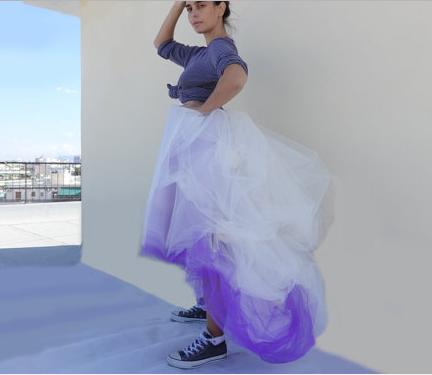 Фатиновая юбка многослойная
