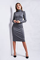 Модное облегающее платье для девушек в вертикальную полоску