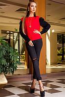 Модная Блуза Красная+Черные Длинные Рукава р. S M L XL