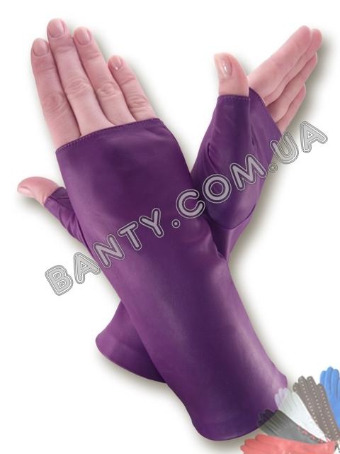 Женские кожаные перчатки без подкладки Модель 381