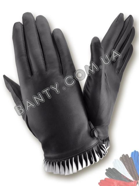 Женские кожаные перчатки без подкладки Модель 389