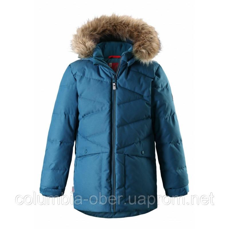 Зимняя куртка пуховик для мальчика Reima 531297-7900. Размеры 122 - 164.