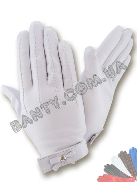 Женские кожаные перчатки без подкладки Модель 395