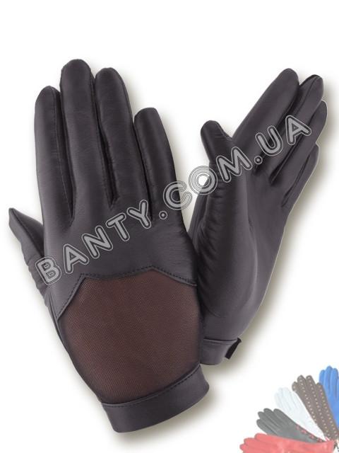 Женские кожаные перчатки без подкладки Модель 397