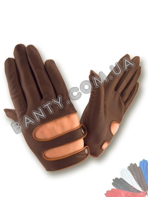 Женские кожаные перчатки без подкладки Модель 405