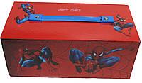 """Набор для рисования прямоугольный""""Человек-паук"""" 54 предмета"""