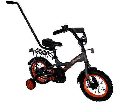 """Детский велосипед CROSSER STREET - 7  12""""  Серый/оранжевый"""