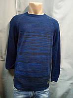 Синий меланжевый джемпер  с карманами Ce&Ce