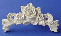 Гипсовый элемент, Три розы (подковы), 7*2,7*0,6см