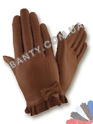 Женские кожаные перчатки без подкладки Модель 437