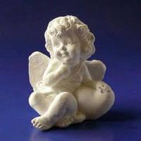 Гипсовая фигура, Ангел с сердцем (большой), 8*6,5*5,5см