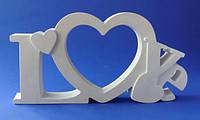 Гипсовая рамка Love, 22,5*11,5*3см