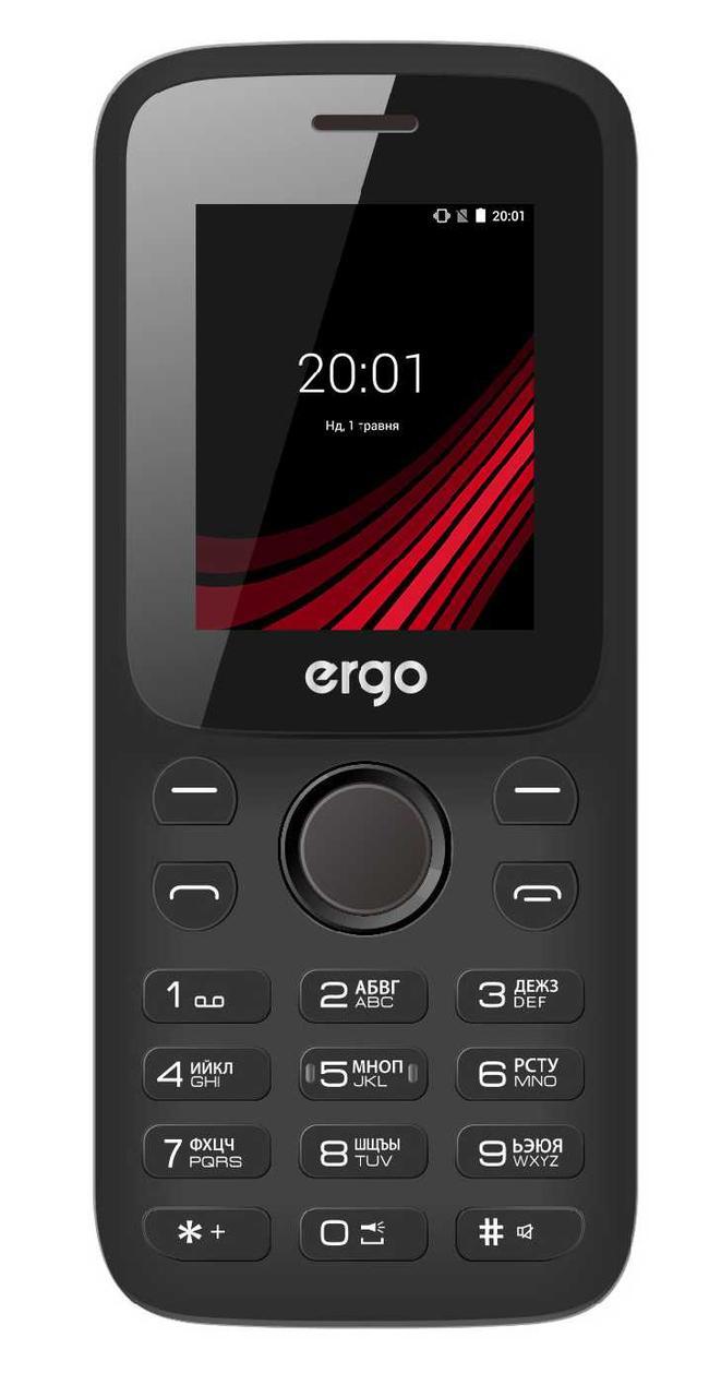Кнопочный мобильный телефон на 2 сим карты ERGO F182 Point